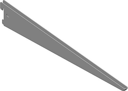 Element System U-Träger Regalträger 2-reihig, 2 Stück, 5 Abmessungen, 3 farben, lange 37 cm für Regalsystem, Wandschiene, weißaluminium, 18133-00039