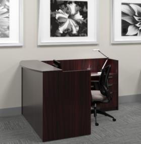 Offices to Go SL7130RDS-SL4224RR Reception Desk American Espresso (Laminate Reception Desk Espresso compare prices)