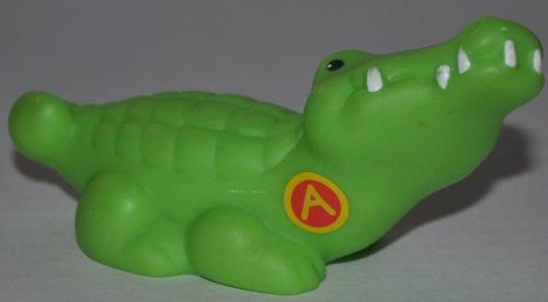 "Little People Alligator ""A"" on Chest (2004) - Replacement Figure Accessory - Classic Fisher Price Collectible Figures - Loose Out Of Package & Print (OOP) - Zoo Circus Ark Pet Castle - 1"