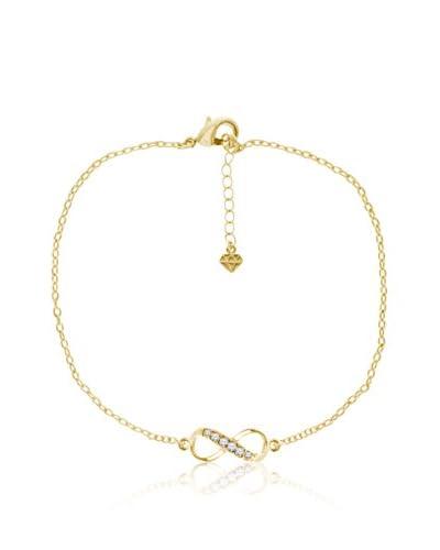 Diamond Style Pulsera Infinity Dorado