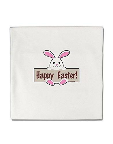 "TooLoud Cute Bunny - Happy Easter Micro Fleece 14""x14"" Pillow Sham"