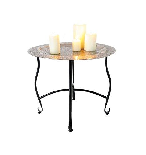Orientalischer-Beistelltisch-Metall-Tisch-Ornamenten-50cm-Teetisch-Bistrotisch