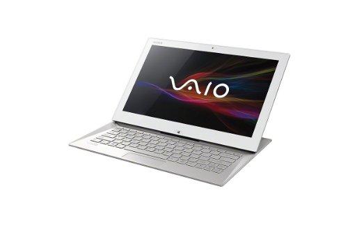 SONY VAIO ノートパソコン Duo 13 13.3型ワイド液晶フルHD ホワイト intel Core i5(1.60GHz) メモリー4GB SSD約128GB ドライブ非搭載 802.11bgn Windows8 64ビット Office Home and Business 2013 3年保証 送料無料