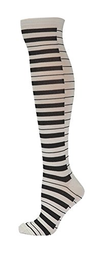 Socksmith Womens Metallic Paino Keys Knee High Socks