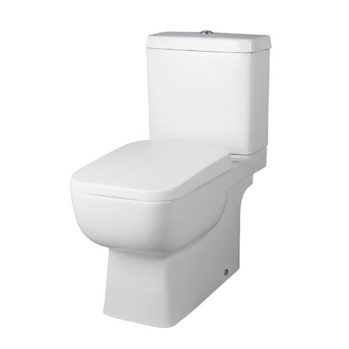 Orchestra Close Coupled Toilet Pan Dual Flush Cistern and Seat Modern Bathroom