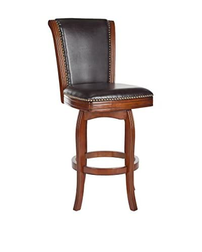 Safavieh Massimo Bar Stool, Walnut/Brown