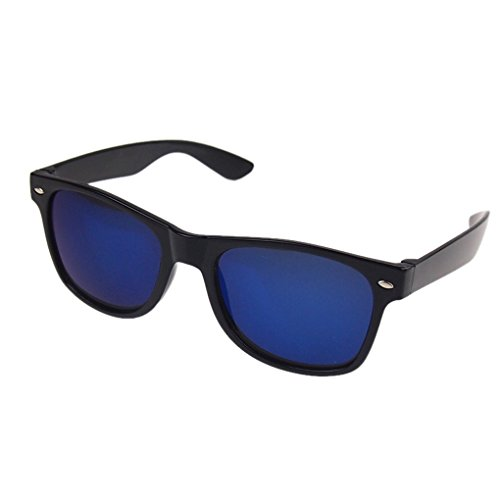 QHGstore Shades Cosplay degli occhiali da sole alla moda Occhiali Black Frame & Blue