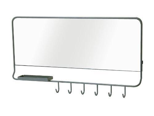 Spiegel Mirror-Me, sandbeschichtet grau