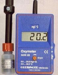 Sauerstoffmessgerät für gelösten Sauerstoff in Flüssigkeiten GOX 20