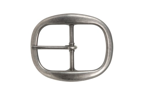 1 1/2 Inch Nickel Free Single Prong Oval Belt Buckle Color: Antique Silver