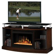 Dimplex Windham Media Console Electric Fireplace - Mocha with Glass Embers (DFP25-MA1015G )
