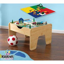 2 in 1 Lego and Train Activity Table by KidKraft