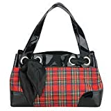tm! Plaid Satchel with Vinyl Trim