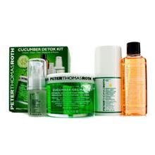 Peter Thomas Roth Cucumber Detox Kit: Gel Mask 150Ml/5Oz + Cleansing Gel 57Ml/2Oz + Lotion 30Ml/1Oz + Hydrating Serum 15Ml/0.5Oz 4Pcs