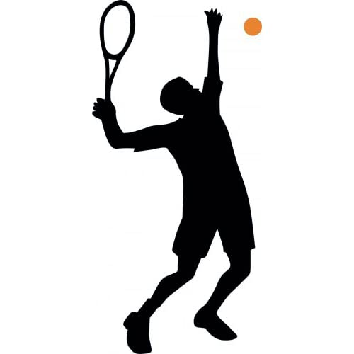 "Amazon.com - Tennis Silhouette - 6 - 18""H x 9""W - Peel and Stick Wall"