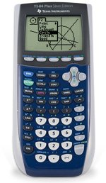 Texas Instruments Inc. TI-84 Plus Silver Edition Blue Graphing Calculator