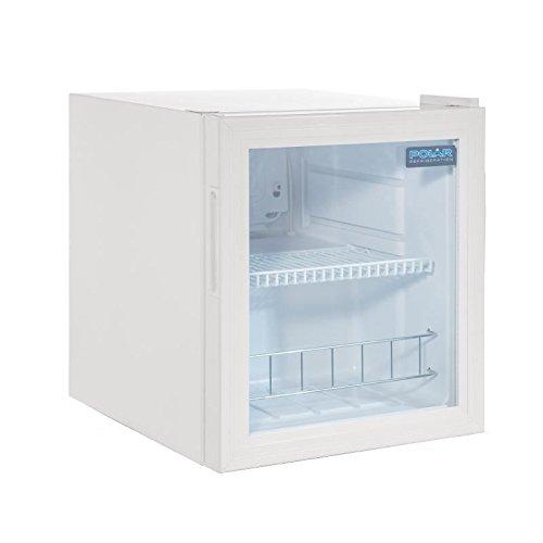 Vitrine réfrigérée de comptoir 46L Polar Blanc. 1 porte vitrée.