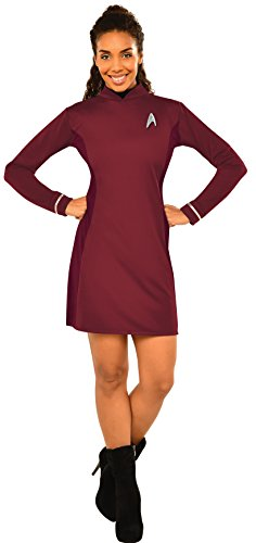 Rubie's Women's Star Trek: Beyond Uhura Deluxe Costume Dress, Red, Medium