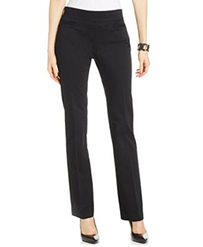 Lee Platinum Womens Secretly Slender Straight-Leg Pull Up Pants, Black, Size 14 (Platinum Label Womens compare prices)