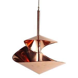"""Hanging Birdbath / Water Feeder - """"Copper Spiral"""", Standard 10"""" Diameter"""