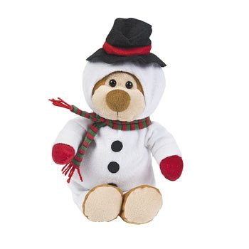 "13"" Plush CHRISTMAS Snowman TEDDY BEAR/Holiday Gift/STOCKING Stuffer/Stuffed Animal/NEW IN PACKAGE - 1"