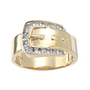 14kt belt buckle ring right