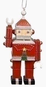 5″ Vintage Retro Santa Claus Robot Christmas Ornament
