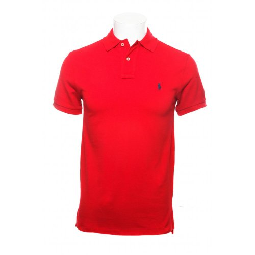 Polo Ralph Lauren mens short sleeve slim fit polo shirt in rl2000 red X.L