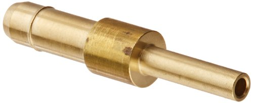 "Eaton Weatherhead 1062X4X3 Brass Ca360 Mini-Barb Brass Fitting, Union, 1/4 X 3/16"" Tube Od front-562116"