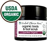 Herbal Choice Mari Organic Body & Foot Scrub 155g/ 5.4oz Glass Jar