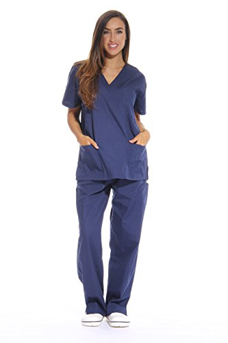 Just Love Women's Navy Scrub Set - Extra Small