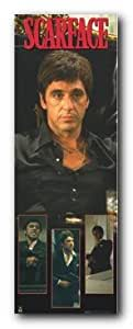 "SCARFACE TONY SITTING DOOR POSTER 21"" X 62"" #DP307"