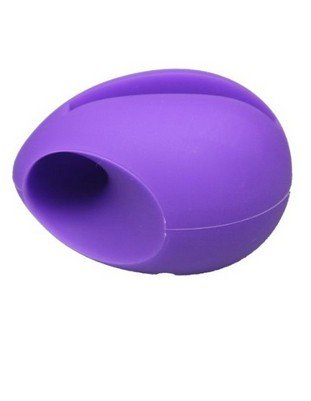 Noarks ® Silicone Horn Stand Holder Audio Dock Amplifier Music Speaker For Iphone 5 5S (Purple Egg)
