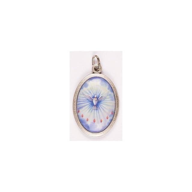 Rosarybeads4u Holy Spirit Medal, Chain & Box   Pendant, Charm, Medallion