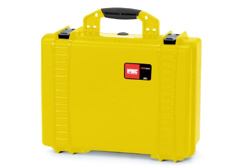 Plaber s.r.l HPRC 2500CY Hartschalenkoffer für Kameras, mit Schaumstoffauskleidung, Gelb