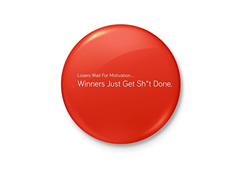 Alter Ego Winners Get Shit Done Motivational Minimalist Badge