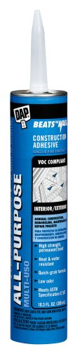 Dap 27450 Beats The Nail All-Purpose Construction Adhesive 10.3-Ounce