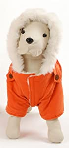 Dogrich Italian Winter Coat in Orange (Size 22)