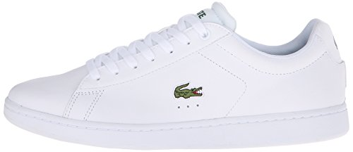 Lacoste Men's Carnaby Evo Lcr Casual Shoe Fashion Sneaker, White, 7.5 M US