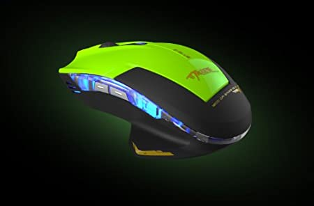 FOM E-3LUE True 2400 DPI Multi DPI Portable USB Wired Gaming Mouse Switch Gaming Mouse - Green