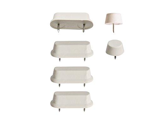 WC-Sitz-Puffer Nr. 30 | Auflagestopfen für Toilettensitz | Abstandhalter für WC-Brille | Dämpfer | Weiß | Kunststoff