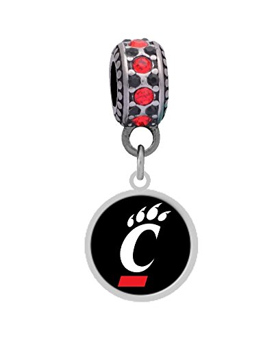 University of Cincinnati Charm Fits Most Bracelet Lines Including Pandora, Brighton, Chamilia, Troll, Biagi, Zable, Kera, Personality, Reflections, Silverado and More ...