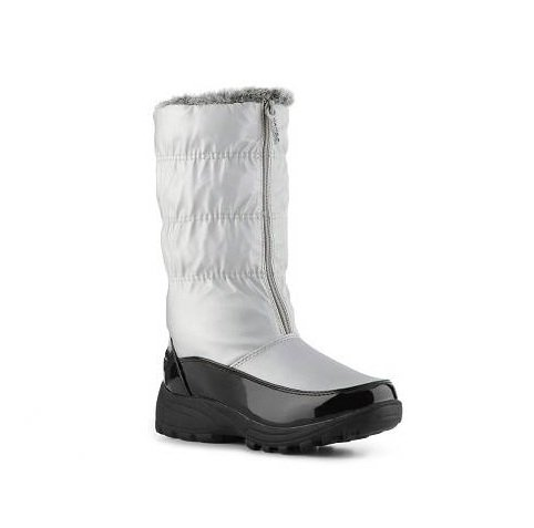 Totes - Rachel - Women's Silver Snow Boots (9, Silver)