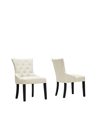 Baxton Studio Set of 2 Epperton Linen Dining Chairs, Beige