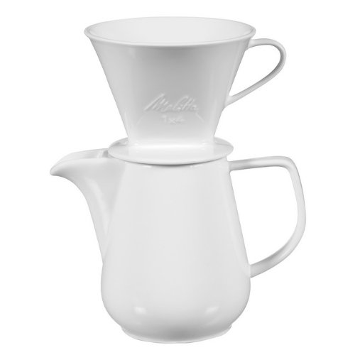 melitta coffee maker single cup pourover brewer with travel mug pack of 2 made by melitta