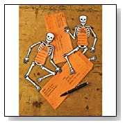 Classic Halloween Skeleton Invitations