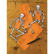 Martha Stewart Crafts Classic Halloween Skeleton Invitations