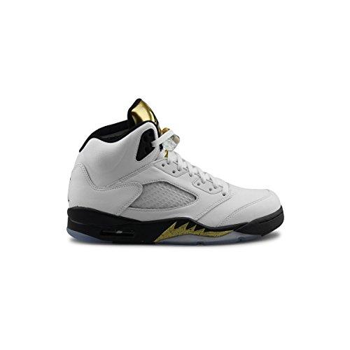 nike-air-jordan-5-retro-gold-tongue-couleur-blanc-dore-noir-pointure-460