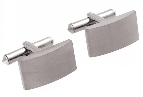 Unique Pure Titanium Oblong Cufflinks