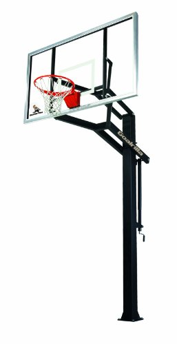 Goalrilla GLR GS I In-Ground Basketball System with 72-Inch Aluminum Framed Tempered Glass Backboard